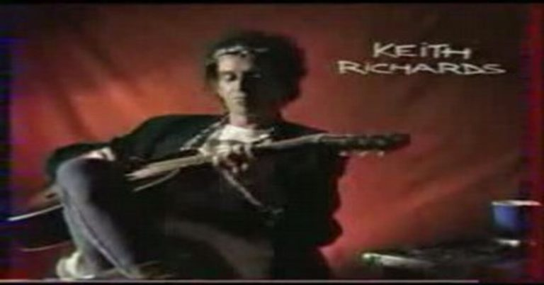 Keith Richards on an Acoustic Guitar!